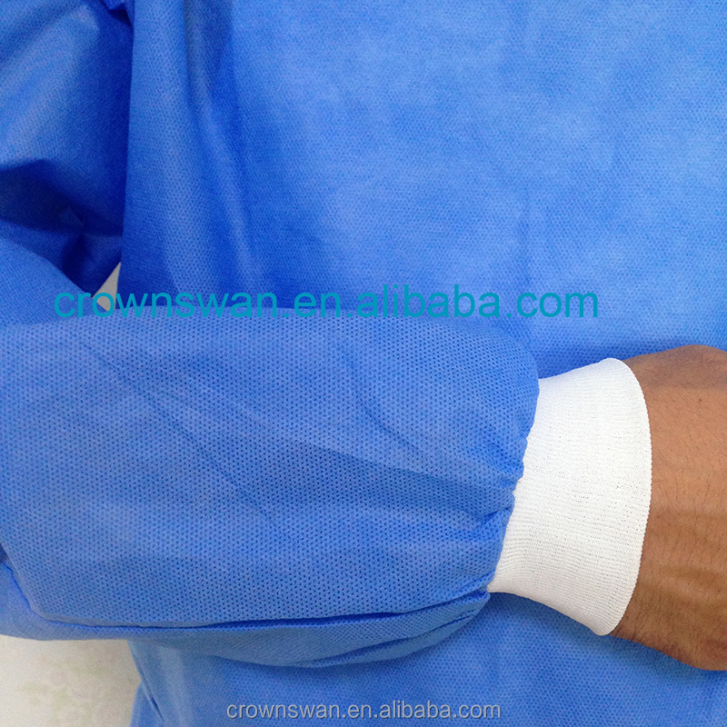 patient fabric/disposable surgical gown knitted cuff/disposable standard surgical gown
