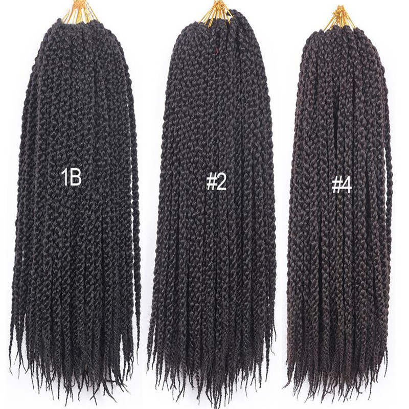 African Women Senegalese Single Twist 24 inch Colorful Crochet Box Buns Protective braiding Hair