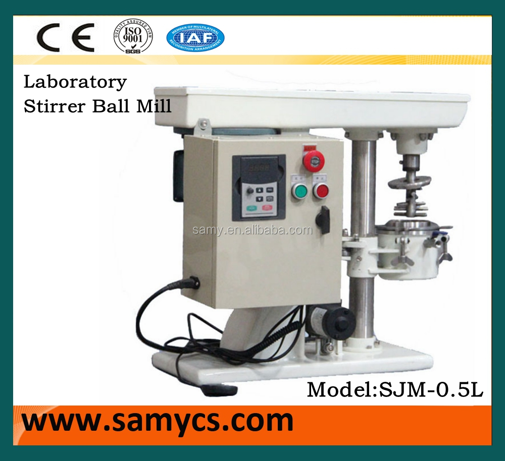 SJM 0.5L capacity lab Stirred ball mill for mixing and grinding different power