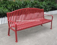 Furniture outdoor modern park bench curved park bench