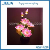 Pink Color Lotus Led Fiber Optic Flower Light For Decoration