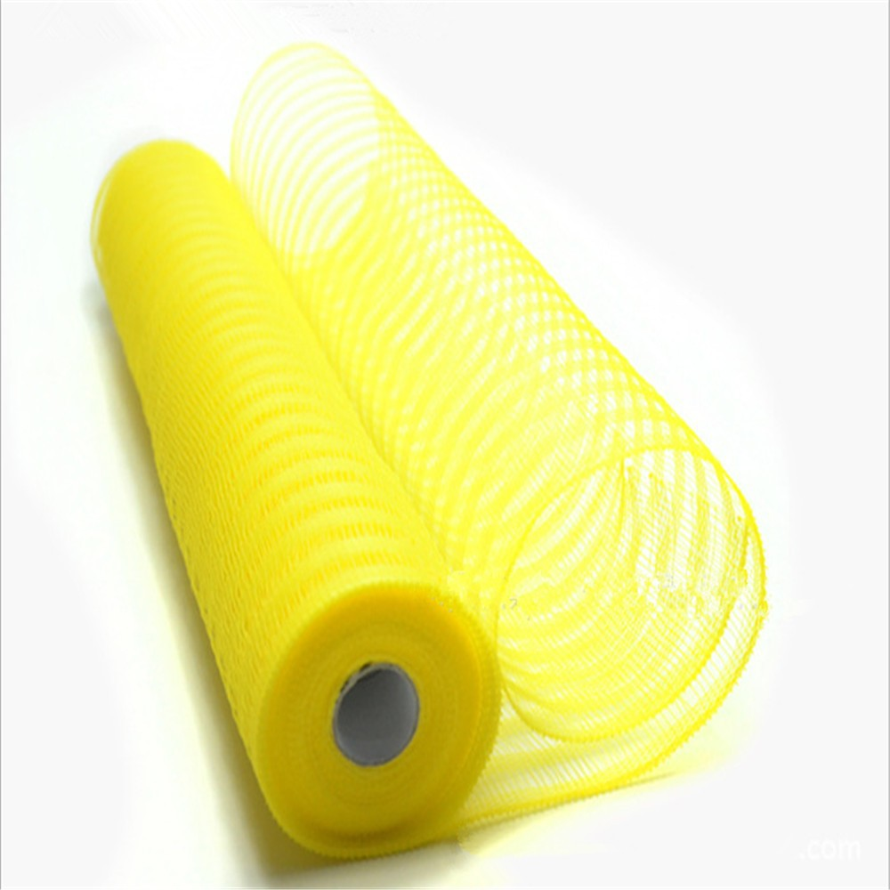 Cheap plastic decoration package tube mesh fabric use for gift