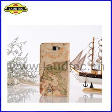 World map leather flip case for samsung galaxy note 2 n7100 stand leather wallet case
