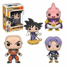 New design Dragon ball Z GOKU funko pop 10cm GOKU&FLYING NIMBUS mini PVC pop Anime toy wholesales