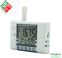 AZ 77232 Alarm System Carbon Dioxide Temperature Humidity Function Indoor Air Quality Monitor