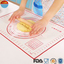 Silicone roll up food grade non stick pro mat baking mat pan liners rubber silicone oven tray