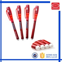 Expo high quality pen with led light promotional invisible ink led pen