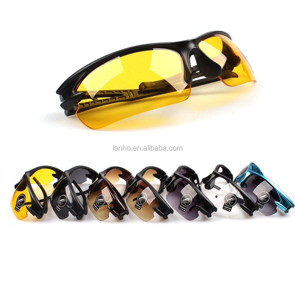 UV400 HD Night Vision Cycling Riding Driving Glasses Sports Sunglasses Goggles