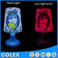 Energy Saving bluecat battery operated mini table lamp, battery operated mini table lamp for children