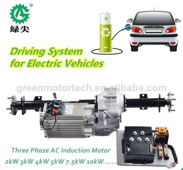 battery power electric bus ac motor driving kits for sale