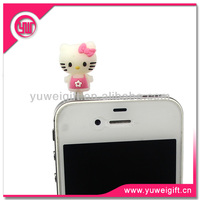 Cute Cat Cell Phone Dust Plug with Logo
