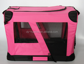 Foldable dog crate Pet carrier house Travel pet cage