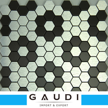 Hexagon Adhesive Aluminum Metal Mosaic tile