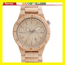 2015 charming fashion handmade natural wooden watch , high quality wood watch