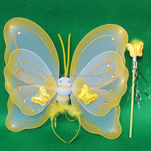 yellow butterfly wings children dance costume