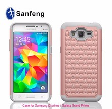 Hybrid Dual Layer Protective Jewel Rhinestone Crystal Bling Case Cover for Samsung J2 Prime and G530
