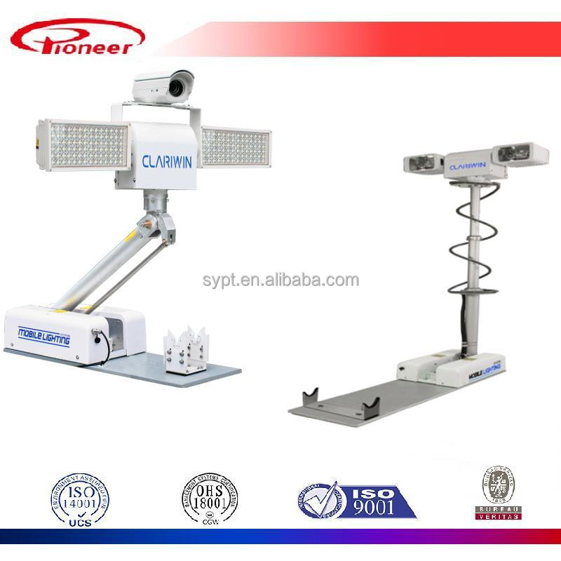 vehicle led and halogen illumination light tower