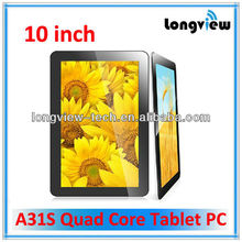 Quad core 10 inch pc tablet with 1G 16G HDMI wifi andriod tablet pc 10 inch mid Allwinnr A31S