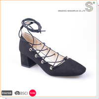 Made in China new arrival ghillie middle age women shoes