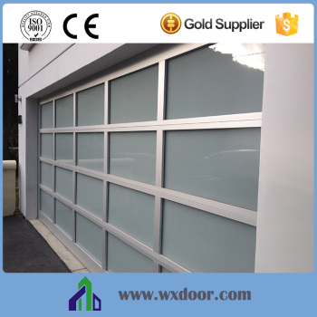 Aluminum commerical frosted glass sectional garage doors for Sectional glass garage door