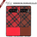 Mobile Phone Soft Clear Tpu&PU Leather Case For Samsung Galaxy note 8