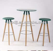 Alibaba express cheap durable replica high heel plastic bar stool with wooden legs bar chair