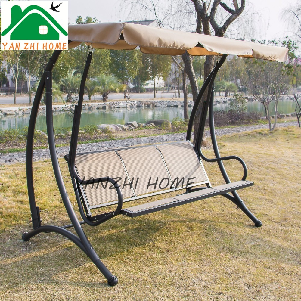 Swinging Hammock Bench with Canopy