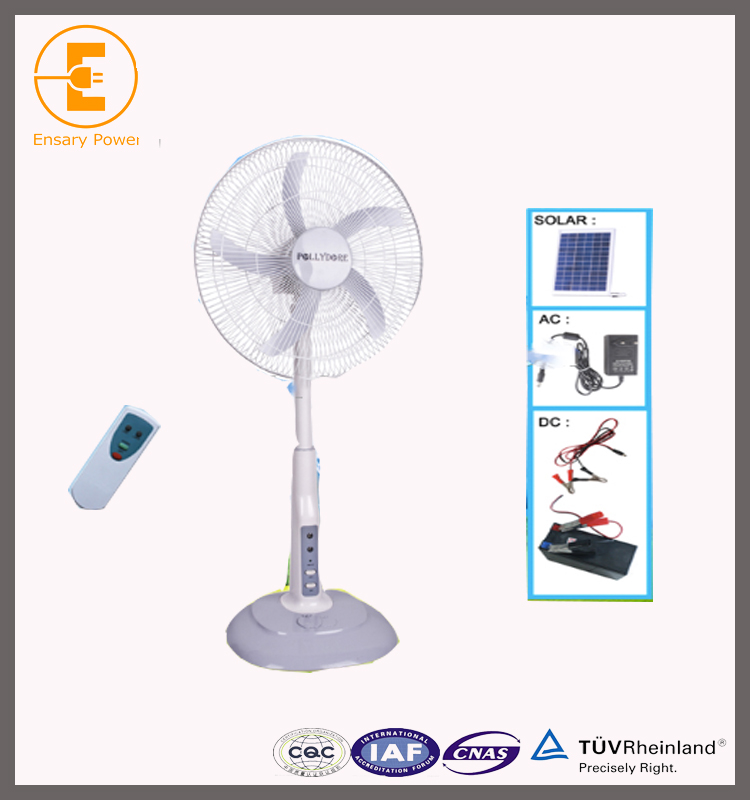 "20"" 12V solar Charged Fan,solar powered Fan energy with LED Light solar fan price in pakistan is competitive"