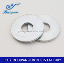 zinc plated high quality flat washer DIN125