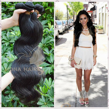 Highest quality natural black color human hair beyonce weaving