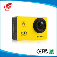 Hot sell factory WiFi 12Mega CMOS action camera 6G 170degree wide angle 1080P sport camera