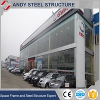 High quality light structural steel car showroom building