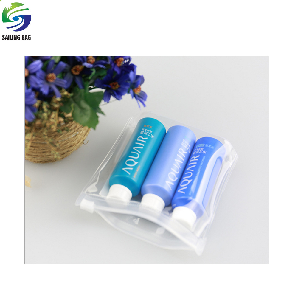 Factory wholesale promotional clear pvc packing zipper bag cosmetic bag