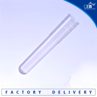 GEB 1.2ml clear plastic test tube for blood individual sample