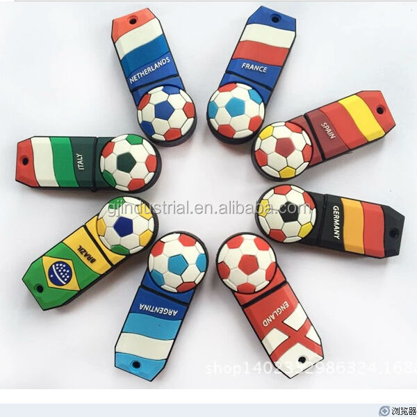 2014 newest world cup cartoon character usb flash drive shenzhen