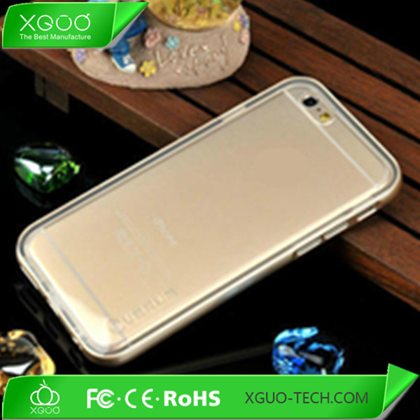 For apple iphone 6 clear case with tpu bumper
