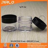 7g 7ml PS transparent plastic dry powder jar cosmetic use nail polish powder container plastic glitter powder jar with lid