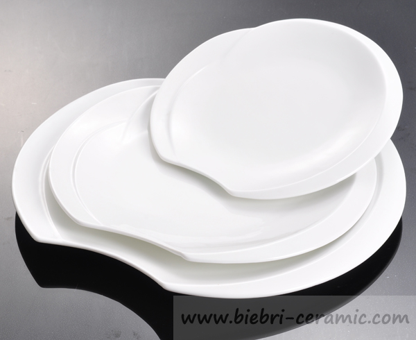 14 inch Super White Antique Design High Quality Logo Decorative Porcelain And Fine Bone China Party Cake Plates