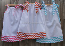 Sweet Little Girl Decorative Pillowcase Dresses Hot Summer Cotton Dresses