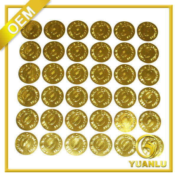 List Manufacturers Of Gold Embossed Sticker Buy Gold Embossed - Custom gold foil stickers