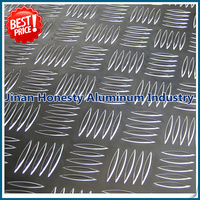 A5052 O H34 H36 H38 aluminum tread plate in 5 bars diamond pattern