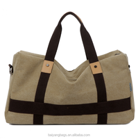 Large capacity canvas bag travelling bag for duffle bag