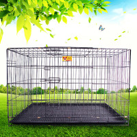 2016 New Design Stainless Steel Dog Crate Foldable Dog Cage with Wheels