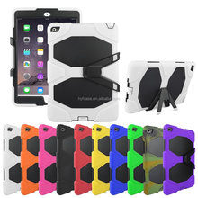 Colorful TPU PC Hybrid Armor Case For iPad iPad air 2 Shockproof&Scratch-Resistant with Kickstand ,best Protector for ipad case