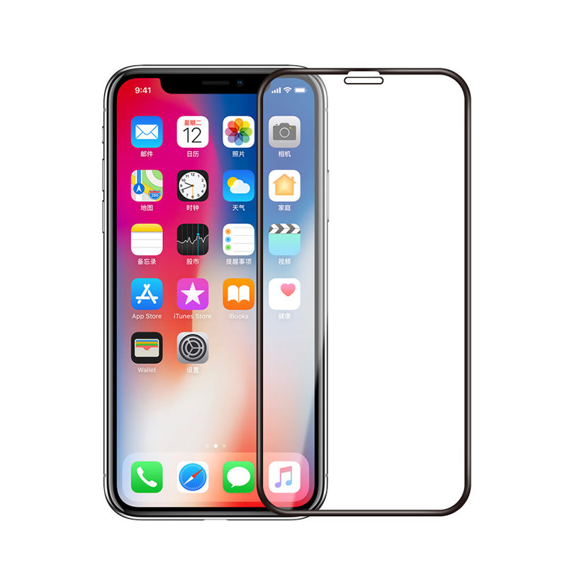 Factory OEM ODM Free Sample 9H 3D Cold Curving Full Covered Tempered Glass Screen Protector for iPhone X
