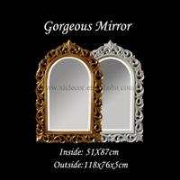 Hand carved decorative mirror with gold leaf silver leaf bathroom mirror