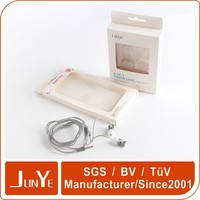 hanging design wax size paper box with clear window manufacturing process