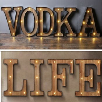 Battery operated Iron Vintage Marquee Letters Metal Light Up Letters for party decoration