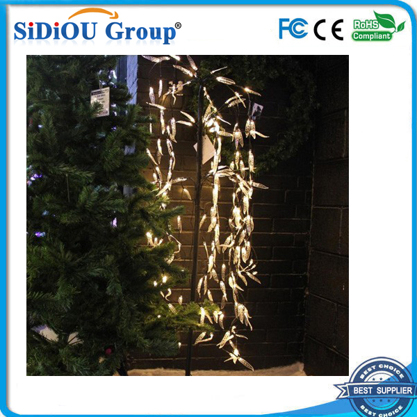 outdoor led weeping willow tree lighting