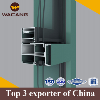 Anodized surface finish aluminum curtain wall profile extrusion